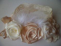 Diadema de flores de cariño por HoneyBunnyBoutique72 en Etsy
