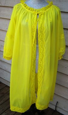 Neon 1970s Chartreuse Negligee