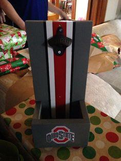 Ohio state bottle opener wall mount