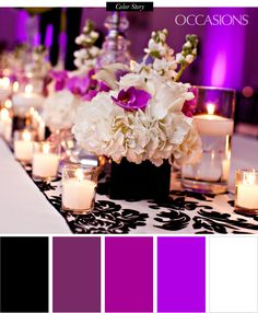 Black White And Purple Wedding Theme Hydrangea - sophisticated black, white, and purple quinceanera in 2019