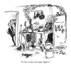 So this is where the magic happens. - New Yorker Cartoon Premium Giclee Print by Robert Weber