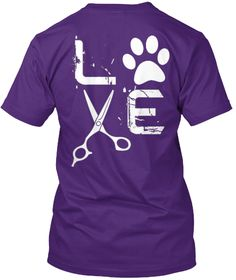 Love Purple T-Shirt Back