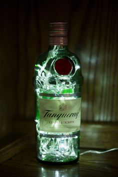 Upcycled Tanqueray Gin Bottle Lamp 70cl £33.00