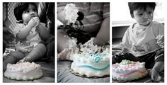 Adorable triplet first birthday cake smash(es.)  Photography by www.edanette.net , highly recommend her!