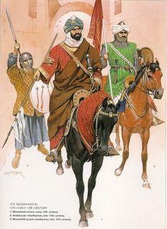 Historical Warrior Illustration Series Part Xll – The Lost Treasure Chest Military Art, Military History, Armadura Medieval, Historical Art, Dark Ages, Medieval Fantasy, North Africa, Islamic Art, Arabian Nights