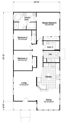 apartment floor plans We really enjoy exploring manufactured home design options and this home is no exception. The Sunset Bay from Palm Harbor offers options that aren't availabl Modular Home Floor Plans, Small House Floor Plans, Dream House Plans, Modern House Plans, Apartment Floor Plans, Bedroom Floor Plans, Rectangle House Plans, The Plan, How To Plan