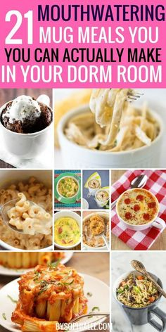 Let's be real. College food sucks. And I think if I have to eat one more thing out of the dorm cafeteria I might die.This is where I usually say how I am being dramatic and kidding, but I am serious. Dorm food is the worst. These recipes are home cooked meals perfect for your littleContinue Reading Healthy Microwave Meals, Healthy College Meals, Easy Microwave Recipes, Microwave Dinners, College Cooking, College Food Recipes, Best College Food, Cheap College Meals, College Dorm Food