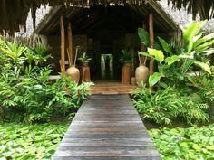 Entrance to Manea Spa at Pearl Beach Resort and Spa in Bora Bora Bora Bora, Tahiti, Pearl Beach Resort, Resort Spa, Beach Resorts, Garden Bridge, Entrance, Bali, Massage