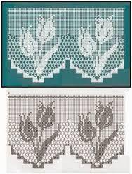 Bildergebnis für häkelmuster bistro gardinen