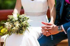 Holding Hands, White Rose Flower