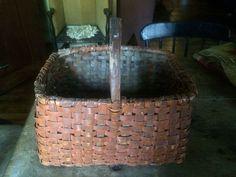 Antique Original Bittersweet Paint Early Handmade Basket. Sold Ebay 220.00