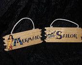 Rockabilly bathroom signs MERMAIDS & SAILORS steampunk tattoo PIRATES Anchor Bathroom, Pirate Bathroom, Mermaid Bathroom, Bathroom Signs, Bathroom Ideas, Steampunk Bathroom, Engagement Party Themes, Navy Tattoos, Seashell Art