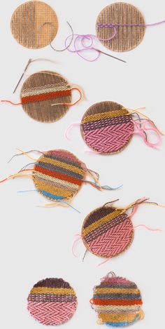 Make woven patches to add style to clothes Tutorial and 45 BEST Charming Lifestyle DIY & Tutorials EVER.  From MrsPollyRogers.com