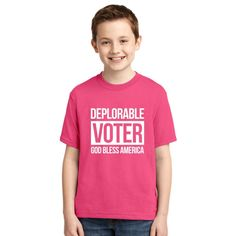 Deplorable Voter Youth T-shirt