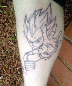 Vegeta Tattoo Super Saiyan Dbz Lorddamian