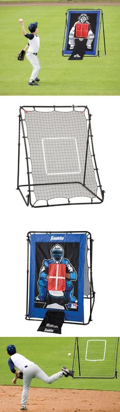 Batting Cages and Netting 50809: New Baseball Softball Pitching Net Cage Training Practice Batting Outdoor Sports BUY IT NOW ONLY: $66.3