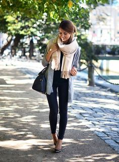 Mariannan - Scarf + Flats http://FashionCognoscente.blogspot.com
