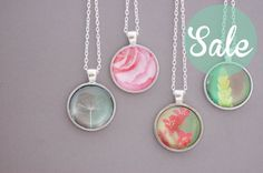 Floral Photograph Necklace Choose Your by CherryBlossomJewels0, £4.00