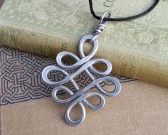 Big Celtic Knot Pendant Aluminum Looping Crossed Knots Celtic