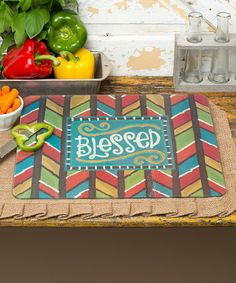 Another great find on #zulily! 'Blessed' Cutting Board #zulilyfinds