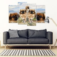Pet Animal Designs Tibetan Spaniel Print-5 Piece Framed Canvas -- Want to know more, click on the image. (As an Amazon Associate I earn from qualifying purchases)