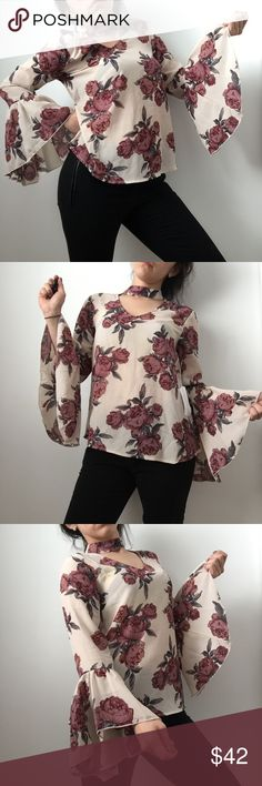 NWT choker long sleeve blouse Size small  NWT  More coming soon   Like or comment if interested live 4 truth Tops Blouses