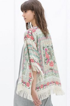 Hot Women Vintage Retro Ladies Hippie Loose Style Kimono Floral Coat Cape Blazer Jacket Tops_Shirts & Blouses_TOPS_CLOTHING_The Latest Trends & Fashion Clothing For Women Online Store-www.dressin.com