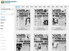 Irish Newspaper Archive - Scoilnet