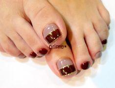 So Nails, Pretty Toe Nails, Cute Toe Nails, Feet Nails, Pedicure Nails, Toe Nail Color, Toe Nail Art, Nail Art Diy, Nail Colors