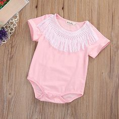 >> Click to Buy << 0-24M Summber Cotton Newborn Baby Kids Girls Clothes Bodysuit Short Sleeve Jumpsuit Playsuit Outfits #Affiliate