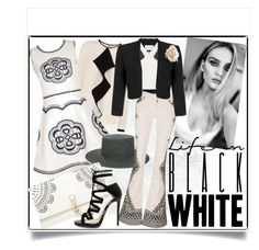 """""""Life in Black and White"""" by fernshadowstudio-com ❤ liked on Polyvore featuring Jacques Vert, Janessa Leone, Alice + Olivia, Lipsy, BCBGMAXAZRIA and Jimmy Choo"""