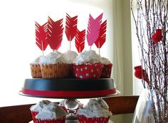 Feather Cupcake Toppers - Bird themed shower