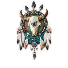 James Meger Wolf Art and Sculpted Bison Skull Dreamcatcher Wall Decor Collection Native American Prayers, Native American Decor, Native American Pictures, Native American Artwork, American Indian Art, Native American Fashion, Native American Wolf, Native Indian, Native Art