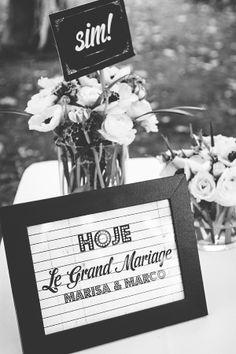 ADORO: Grafismo de casamento // wedding graphics // Old cinema theme