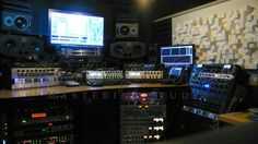 The studio for audio mastering.