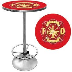 Trademark Fire Fighter Chrome Pub/Bar Table FF2000 at The Home Depot - Mobile