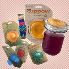 Cuppow! Turning Mason Jars in to beverage cups with lids that will accommodate a straw. Enter to win a set here. #cuppow #earthbalance