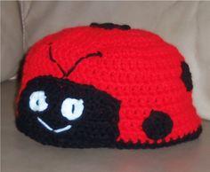 Lady Bug Knit Cap https://www.facebook.com/KatfishcokeHandmadeCrochet