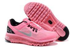 Air Max 2013 Running Shoes pink black women