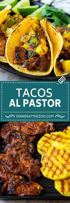 Low Carb Recipes To The Prism Weight Reduction Program Tacos Al Pastor Recipe Pork Tacos Mexican Tacos Authentic Mexican Recipes, Mexican Food Recipes, Recipes Dinner, Pineapple Dinner Recipes, Breakfast Recipes, Dessert Recipes, Crock Pot Recipes, Cooking Recipes, Healthy Recipes