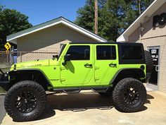 Protect the interior of your car as well as add security from break ins with our high quality window tint! Lime Green Jeep, My Dream Car, Dream Cars, Green Jeep Wrangler, Durham, Jeep Wave, Jeep Jl, Window Films, Fancy Cars