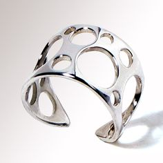 Bubbles Unique Sterling Silver Ring Adjustable Band by arosha, $36.00