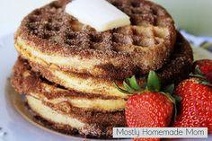 Mostly Homemade Mom: Churro Waffles #EggoWaffleOff