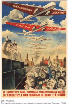 USSR propaganda Soviet Poster 230 by SovietPoster on Etsy, $9.99