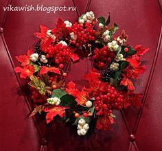 Осенние декоративные венки