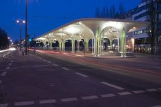 Tram- and Bus station in Munich