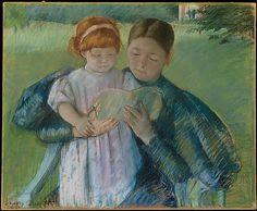 """""""Nurse Reading to a Little Girl"""" Mary Cassatt 1895"""