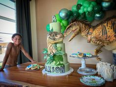 One of the best cakes we have seen this year! Dinosaur Birthday Cakes, Dinosaur Cake, Amazing