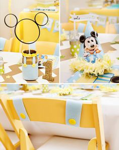 Creative Mickey Mouse 1st Birthday Party Ideas Free Printables Theme
