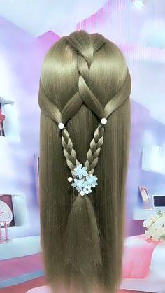 Side Braid Hairstyles, Easy Hairstyles For Long Hair, Creative Hairstyles, Hair Up Styles, Natural Hair Styles, Long Hair Tips, Hair Videos, Hair Designs, Hair Hacks